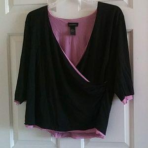 Lane bryant deep plunge blouse size 18/20